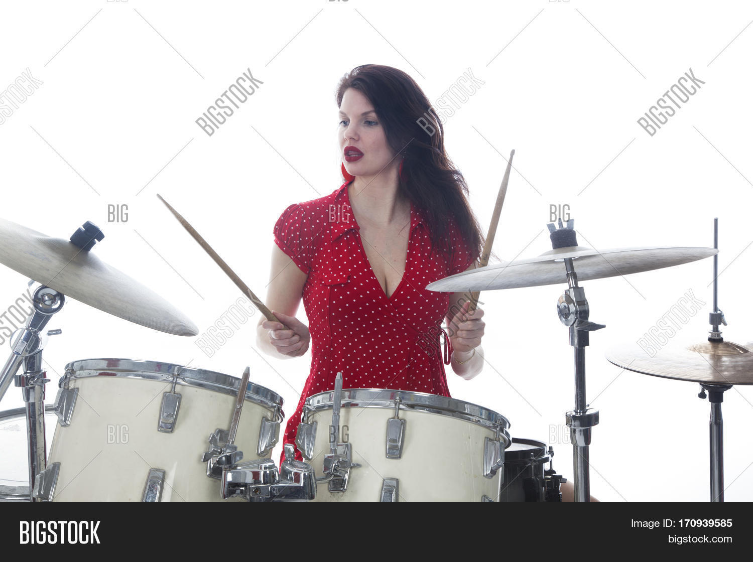 Sexy female drummer free photos healthy!