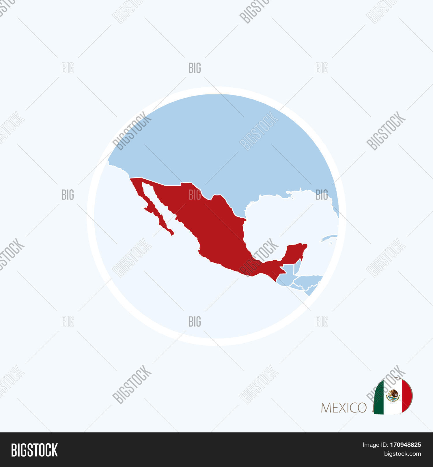 Vector y foto map icon mexico prueba gratis bigstock map icon of mexico blue map of north america with highlighted mexico in red color gumiabroncs Image collections