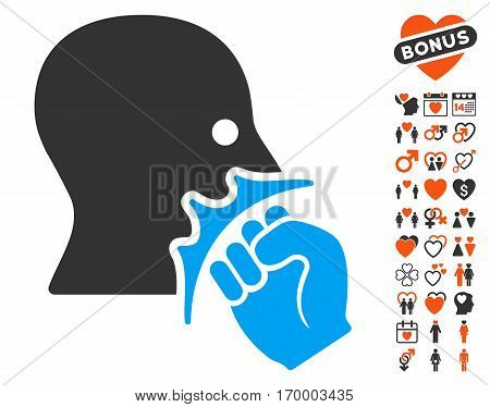 Face Violence Strike icon with bonus love graphic icons. Vector illustration style is flat iconic elements for web design app user interfaces.