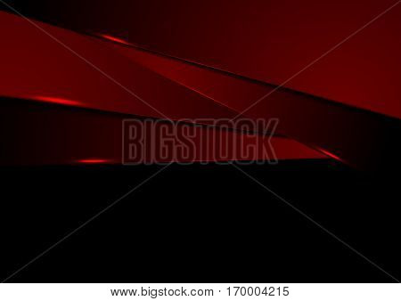 Dark red abstract tech corporate background. Vector geometric digital design
