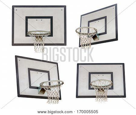 image of basketball backboard isolated on white background