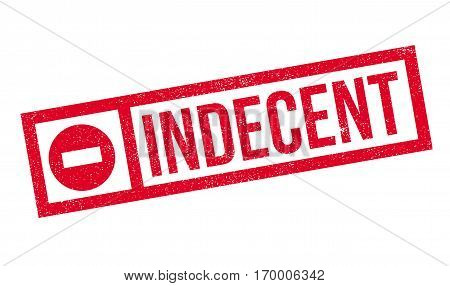 Indecent rubber stamp. Grunge design with dust scratches. Effects can be easily removed for a clean, crisp look. Color is easily changed.