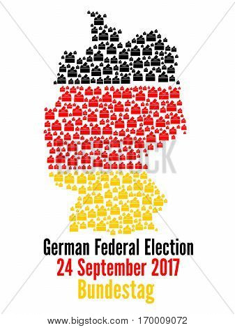 German federal election 2017 with a white background