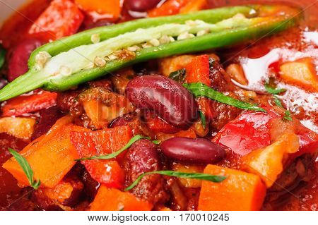 Vegatable stew with carrot, red bean, bell pepper and potato