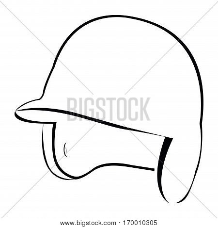 Isolated baseball helm on a white background, Vector illustration