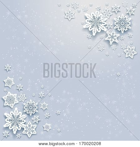 Winter snowflakes card