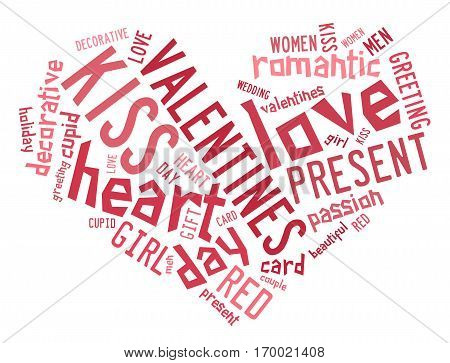 Valentines Day Concept In Word Tag Cloud