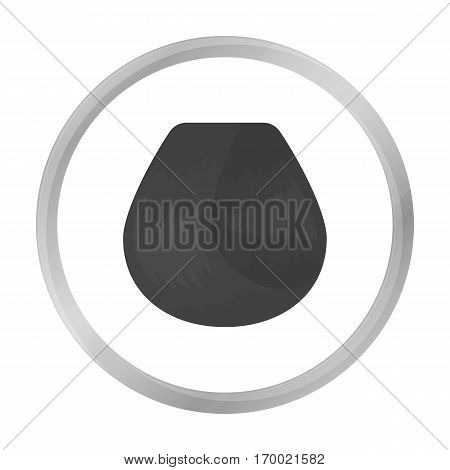 Hair lock icon in monochrome style isolated on white background. Hairdressery symbol vector illustration.