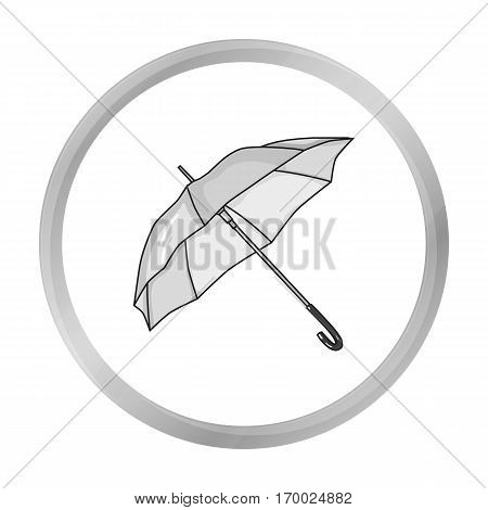 Parasol icon in monochrome style isolated on white background. Golf club symbol vector illustration.