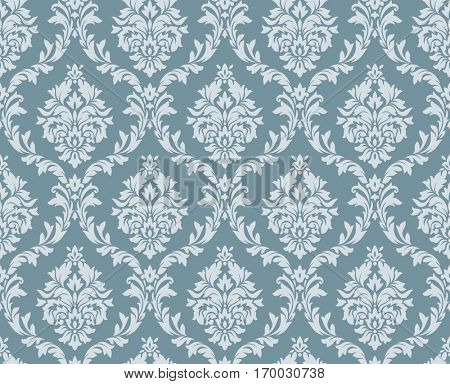 Vector seamless floral damask pattern. Rich ornament, old Damascus style. Royal victorian seamless pattern for wallpapers, textile, wrapping, wedding invitation. Damask woman pattern