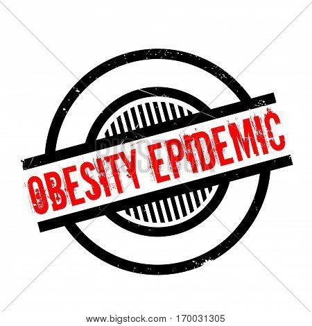 Obesity Epidemic rubber stamp. Grunge design with dust scratches. Effects can be easily removed for a clean, crisp look. Color is easily changed.