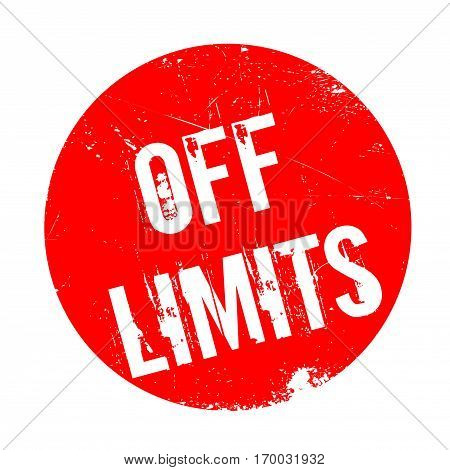 Off Limits rubber stamp. Grunge design with dust scratches. Effects can be easily removed for a clean, crisp look. Color is easily changed.