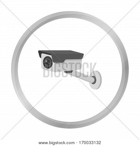 Hidden camera icon in monochrome style isolated on white background. Hotel symbol vector illustration.