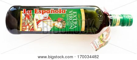 GOMEL, BELARUS - SEPTEMBER 5, 2016: Olive Oil Acesur La Espanola. Acesur is a referent company within the olive oil sector in Spain.