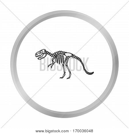 Tyrannosaurus rex icon in monochrome style isolated on white background. Museum symbol vector illustration.