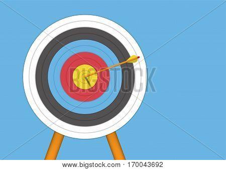 Archery Target with an Arrow Vector Illustrator