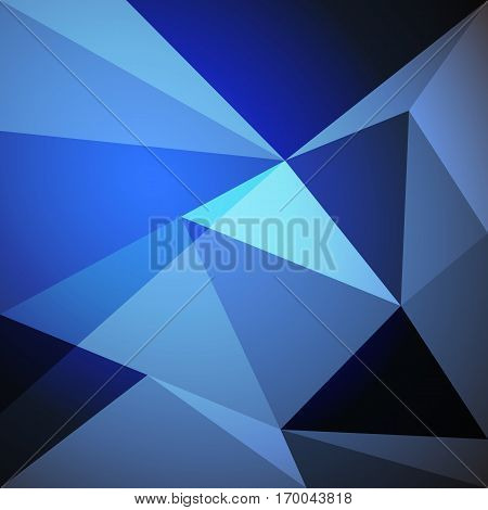 Low poly design element on blue gradient background, stock vector