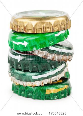 Pile of stoppers from beer