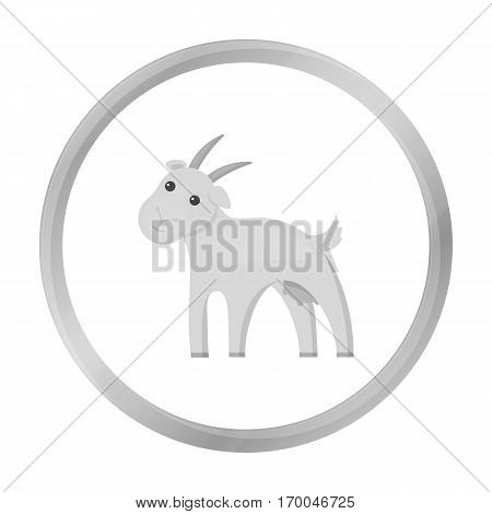 Goat icon monochrome. Single bio, eco, organic product icon from the big milk monochrome.