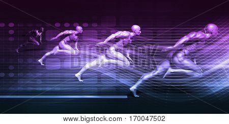 System Integration Technology Futuristic Platform Concept Art 3D Illustration Render