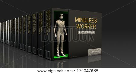 Mindless Worker Endless Supply of Labor in Job Market Concept 3D Illustration Render