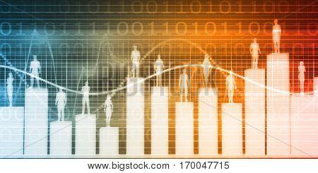 Employee Relationship Management or ERM as a Business Concept 3D Illustration Render