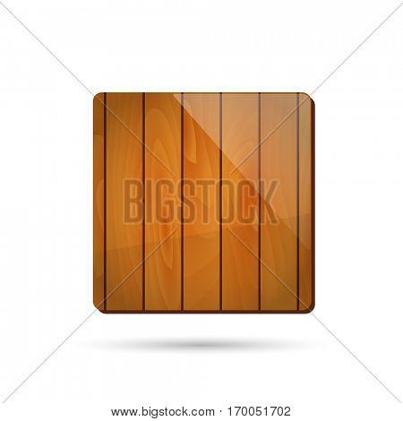 Wooden app icon illustration