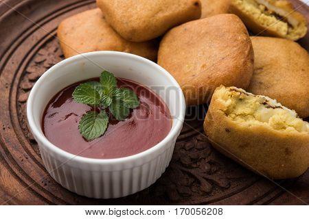 punjabi Paneer Pakoda or pakora or vada, made from gram flour and cottage cheese