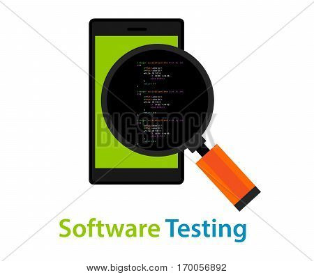mobile application software testing code inspection vector