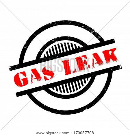 Gas Leak rubber stamp. Grunge design with dust scratches. Effects can be easily removed for a clean, crisp look. Color is easily changed.