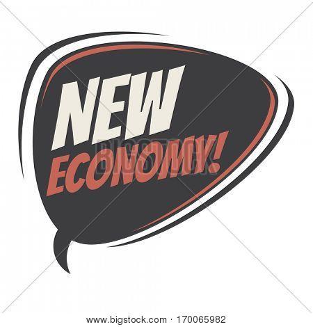 new economy retro speech balloon