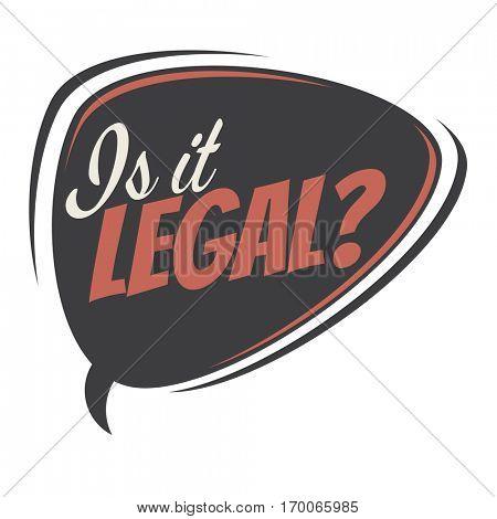is it legal retro speech balloon