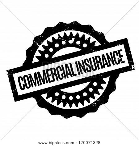 Commercial Insurance rubber stamp. Grunge design with dust scratches. Effects can be easily removed for a clean, crisp look. Color is easily changed.