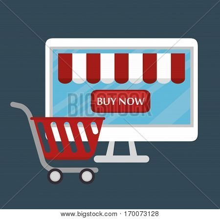 electronic commerce business icon vector illustration design