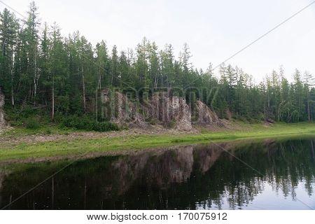 Rivers. Beauty of Eastern Siberia. Krasnoyarsk region.