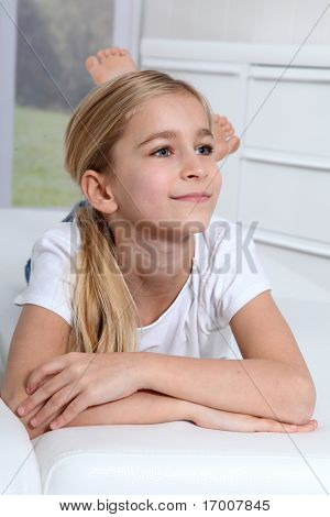 Portrait of 10-year-old blond girl