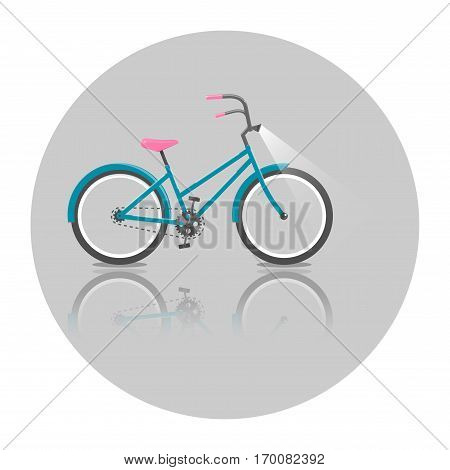 Bicycle. Bike icon vector. Vector bright illustration of Bike. Cycling concept. Trendy style for graphic design, logo, Web site, social media, user interface, mobile app.