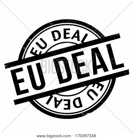 Eu Deal rubber stamp. Grunge design with dust scratches. Effects can be easily removed for a clean, crisp look. Color is easily changed.