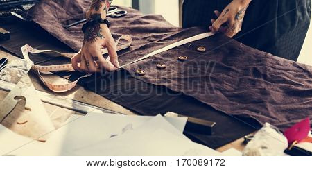 Fashion Designer Cutting Tailor Made Concept