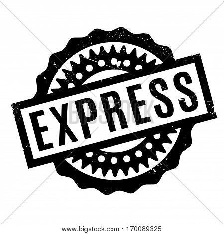 Express rubber stamp. Grunge design with dust scratches. Effects can be easily removed for a clean, crisp look. Color is easily changed.