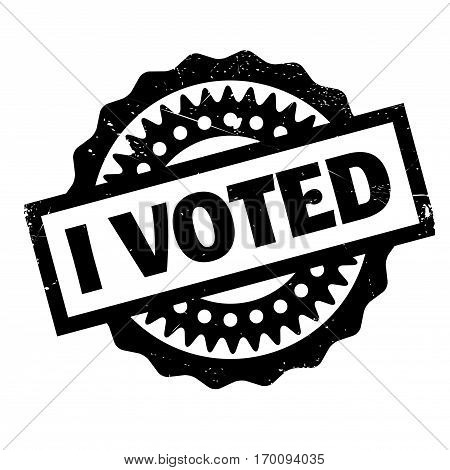 I Voted rubber stamp. Grunge design with dust scratches. Effects can be easily removed for a clean, crisp look. Color is easily changed.