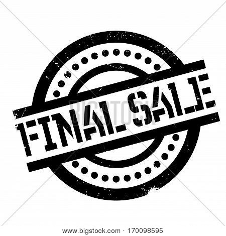 Final Sale rubber stamp. Grunge design with dust scratches. Effects can be easily removed for a clean, crisp look. Color is easily changed.