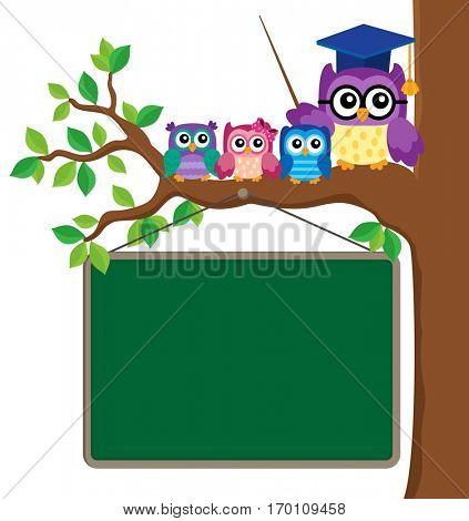 Stylized school owl theme image 6 - eps10 vector illustration.
