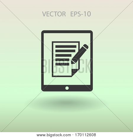 touchpad notes icon. vector illustration