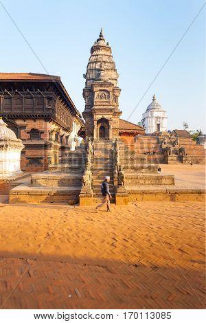 Bhaktapur Durbar Square Siddhi Laxmi Temple Man