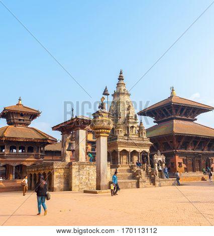 Bhaktapur Durbar Square Vatsala Durga Angled