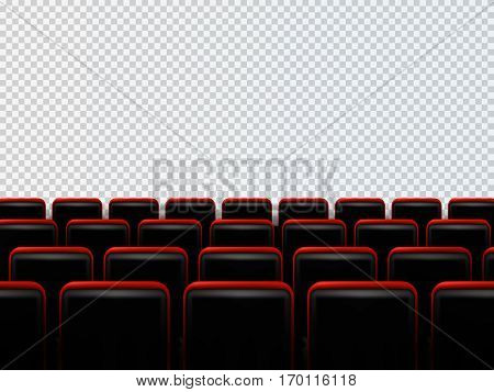 Cinema seats isolated on transparent background. Vector illustration for your design.