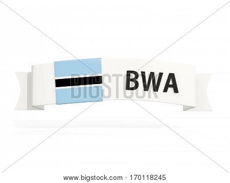 Flag Of Botswana On Banner