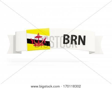 Flag Of Brunei On Banner