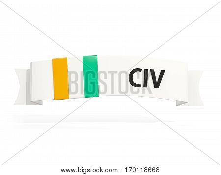 Flag Of Cote D Ivoire On Banner